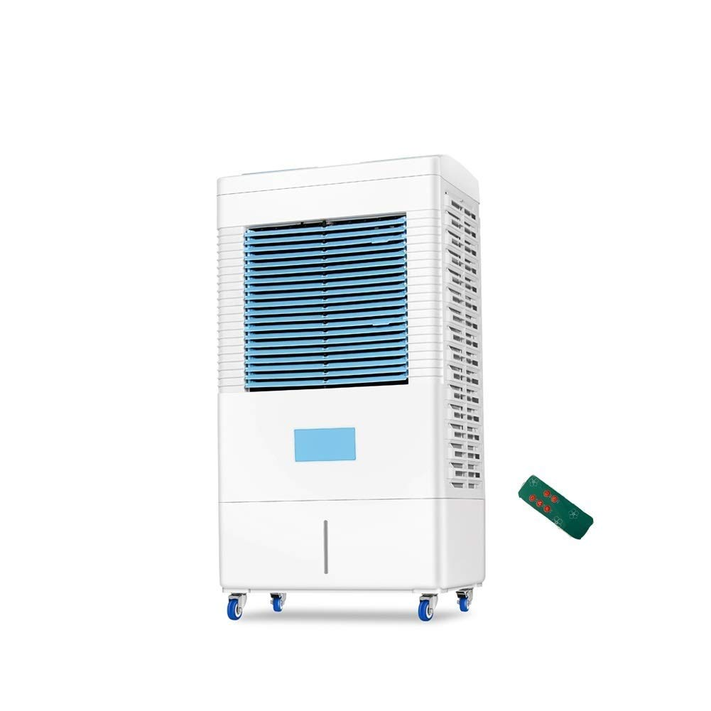 Xxyk Household air Cooler Portable Evaporative Air Conditioner Tower Cold Air Cooler Fan Mobile Air Conditioning Remote Control Timing Energy Saving (Color : Blue2)