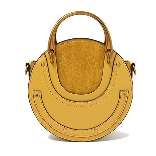 Leather Shoulder Cross Handbag Fashion Body Yellow amp;Demons New Angels Ring Mini Bag Handle Genuine One PqaXq8Ux