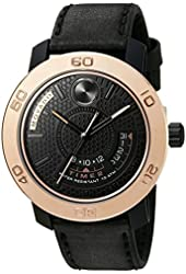 Movado Men's Swiss Quartz Stainless Steel and Black Leather Casual Watch (Model: 3600360)