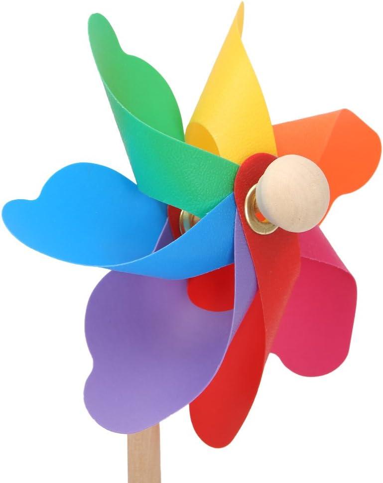 Fahou Wood Windmill Wind Spinner Pinwheels Home Garden Yard Decoration Kids Toys New