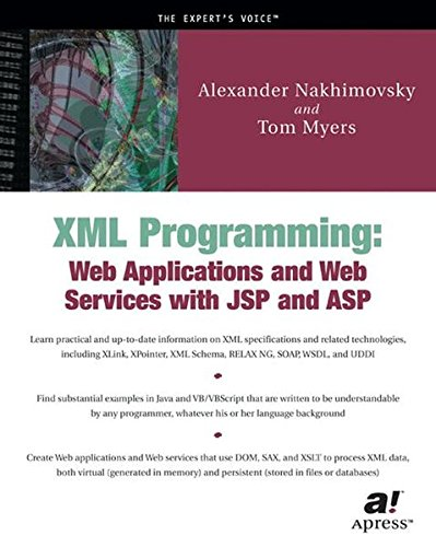 Download XML Programming: Web Applications and Web Services With JSP and ASP pdf epub