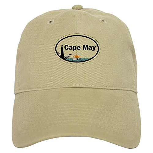 CafePress Cape May Lighthouse Baseball Cap with Adjustable Closure, Unique Printed Baseball Hat Khaki ()