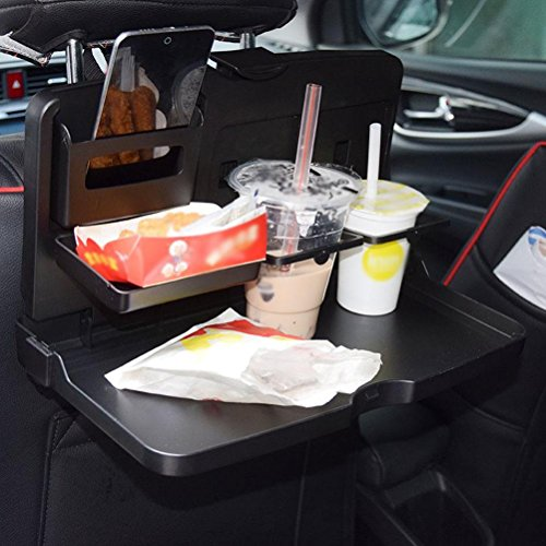 MQYH@ Multipurpose Car Tray - Car Seat Activity & Snack Tray for A More Convenient Time in Your Car Black by MQYH@ (Image #6)