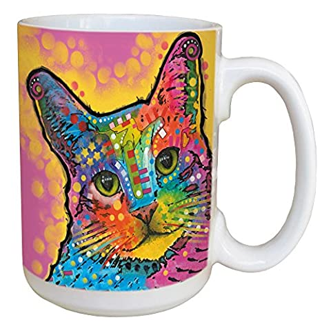 Tree-Free Greetings 46188 Dean Russo Cat-tastic Coffee Mug - Large 15-Ounce Ceramic Cup, Full-Size Handle - Gift for Kitten, Kitty, Pet Animal - Animal Handle Mug