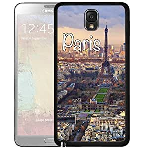 Paris France City Sky View Rubber Silicone TPU Cell Phone Case Samsung Galaxy Note 3 III N9000 N9002 N9005