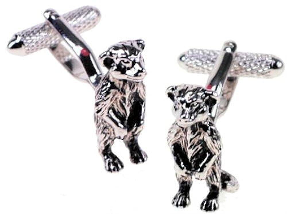 Onyx-Art London CK817 Meerkat Cufflinks in Gift Box
