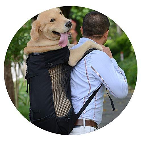 ZZmeet 1PC Dog Carrier Pet Shoulder Traveler Backpack Dog Outcrop Bags Ventilation Breathable Washable Outdoor Bicycle Hiking Backpack,Blue,M