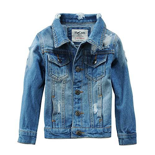 SITENG Boys Kids Denim Fall Ripped Jean Jacket Coat Outwear with Hole 100% Cotton