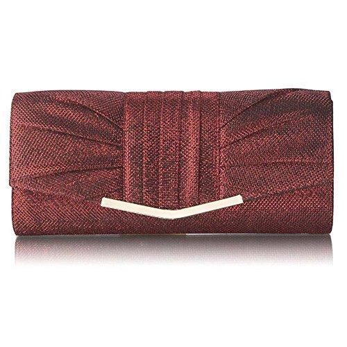 Trendstar las mujeres transpirable, diseño De moda De mujer, diseño De perfume Soir Bal Promo Fiesta bolsas De embrague Rojo - Rouge 1