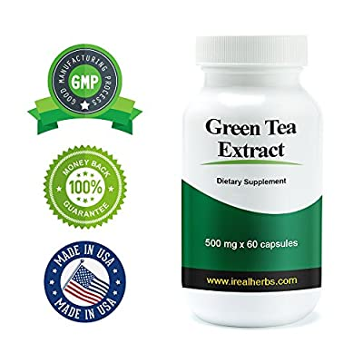 Green Tea Extract - 500mg X 60 Capsules - All the Benefit of Green Tea, Concentrated in a Convenient Capsule for You.