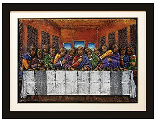 Black Cards ARTR01 Last Supper Relief Art White