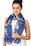 Anika Dali Women's Bonjour Paris Print Scarf, Ideal for Travel, Chic, Lightweight (2 Colors)