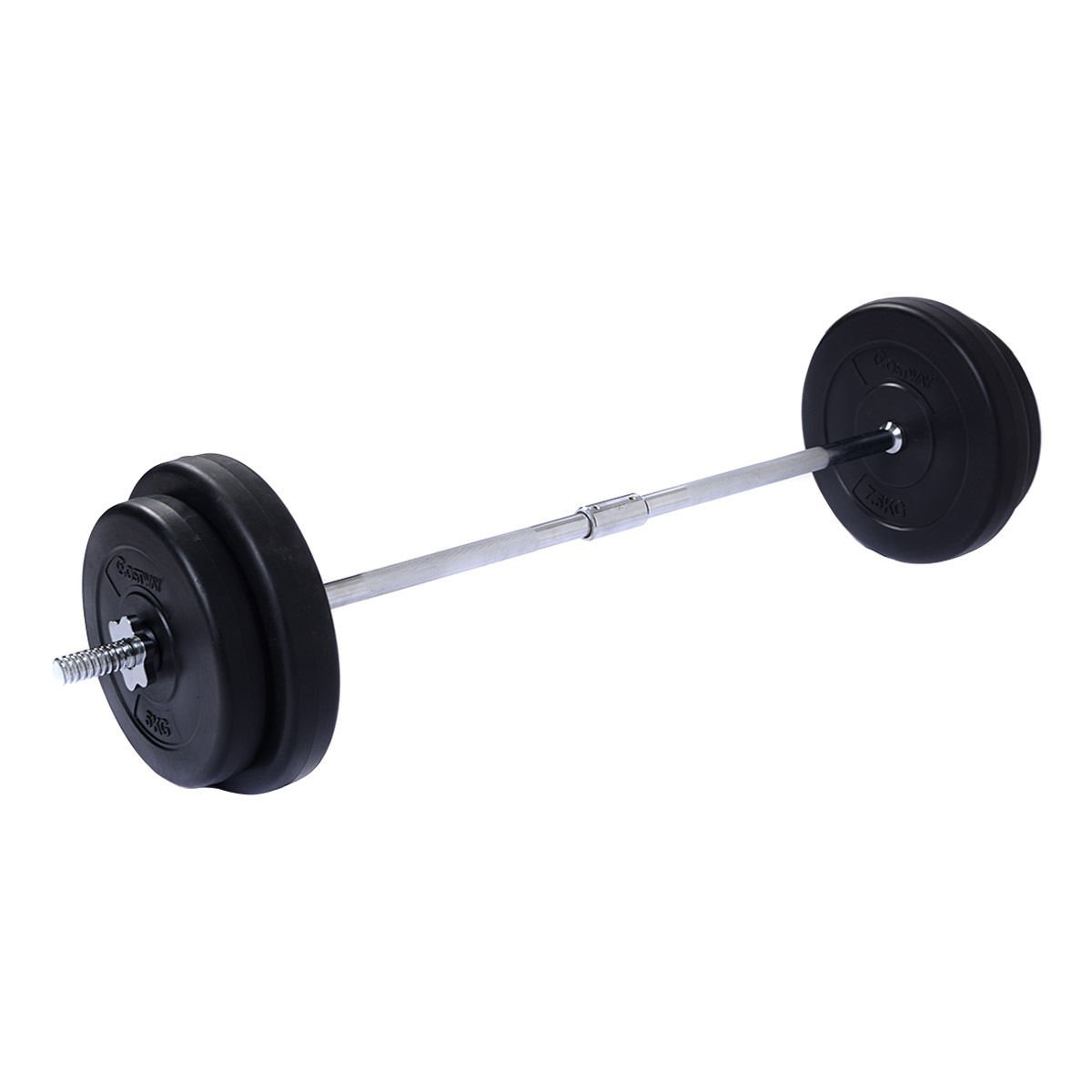 Giantex 66 LB Barbell Dumbbell Workout Weight Set Gym Lifting Exercise Curl Bar w/2 Star Lock Clamp Collars 4 Plates