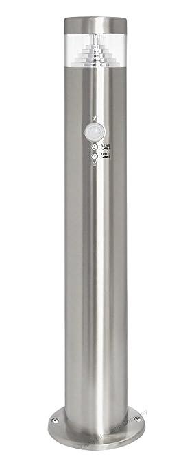 Motion Sensor Led Bollard Garden Lamp Post Stainless Steel