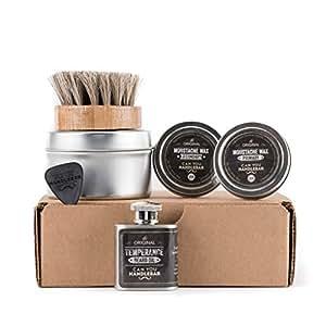Basic Beard Care Kit - Temperance Beard Oil Flask