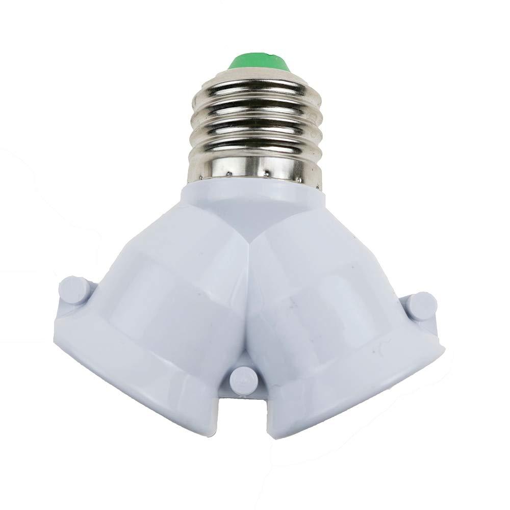 Halica 100PCS Y Shape E27 to 2 E27 Lamp Holder Converter Corn Bulb Base Type Socket Conversion 2E27 Splitter Adapter