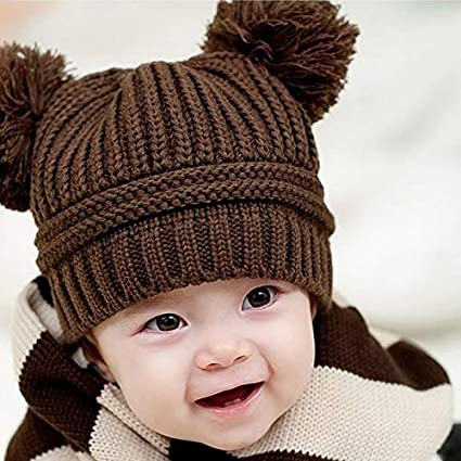 Amazon.com  Jshuang Double Ball Children s Knitted Hat 0860f2a3f4c