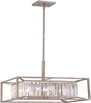 Designers Fountain Linares Semi Flush 87411-AP Aged Platinum