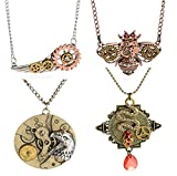 2016 Popular Various Styles Vintage Retro Necklace for Gear Steampunk Necklace