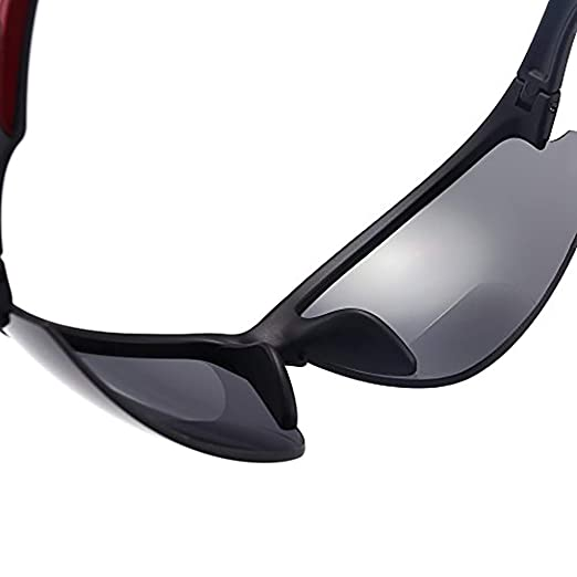 884eeda593 Amazon.com  Amazing Good Quality! Ultra-Light Viscare Men Women Bifocal  Sport Wrap Sunglasses with Readers (+1.00