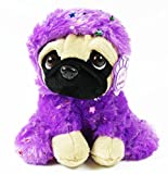 Card and Party Store Soft Toy Pug Dog In Costume Purple Plush Cuddly Teddy For Kids Keel