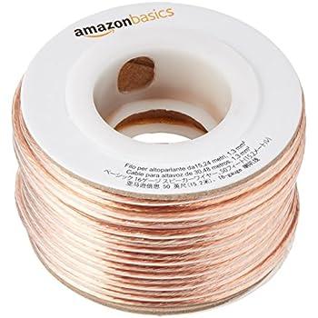 Amazon amazonbasics 16 gauge speaker wire 50 feet home audio amazonbasics 16 gauge speaker wire 50 feet greentooth Choice Image