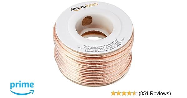 Amazon.com: AmazonBasics 16-Gauge Speaker Wire - 50 Feet: Home Audio ...