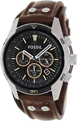Fossil Men's 'Coachman' Quartz Stainless Steel and Leather Casual Watch, Color:Brown (Model: CH2891) by Fossil