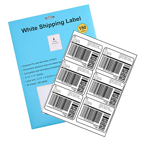(TCPF Shipping Label with Self Adhesive, Labels for Laser or Inkjet, White Blank Shipping Labels, Pack of)