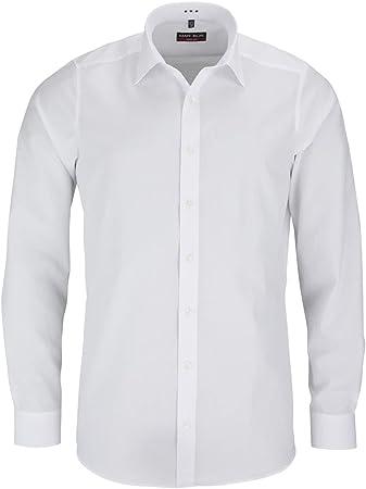 Camisa de manga extra larga de Marvelis, manga larga con cuello New Kent y puños deportivos de algod