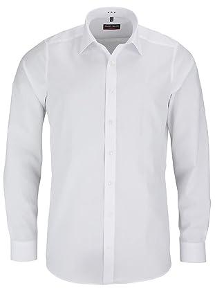 822f8c030d8 MARVELIS Body Fit Shirt Extra Long Sleeve Popeline White AL 69   Amazon.co.uk  Clothing