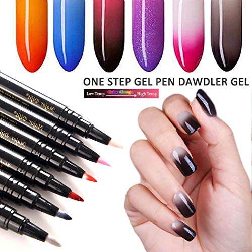 Pinsparkle One Step Gel Nail Polish Pen, Long Lasting UV LED Nail Varnish Nail Art Kit, 24