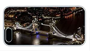 Fashion iphone 5 sparkly cover Tower Bridge London England river night city buildings black style PC White for Apple iPhone 5/5S