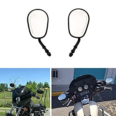 Goldfire Black Sportster Mirrors for Road King Street Electra Glide Road Glide Dyna Softail Rearview 1982-2020 (Black): Automotive