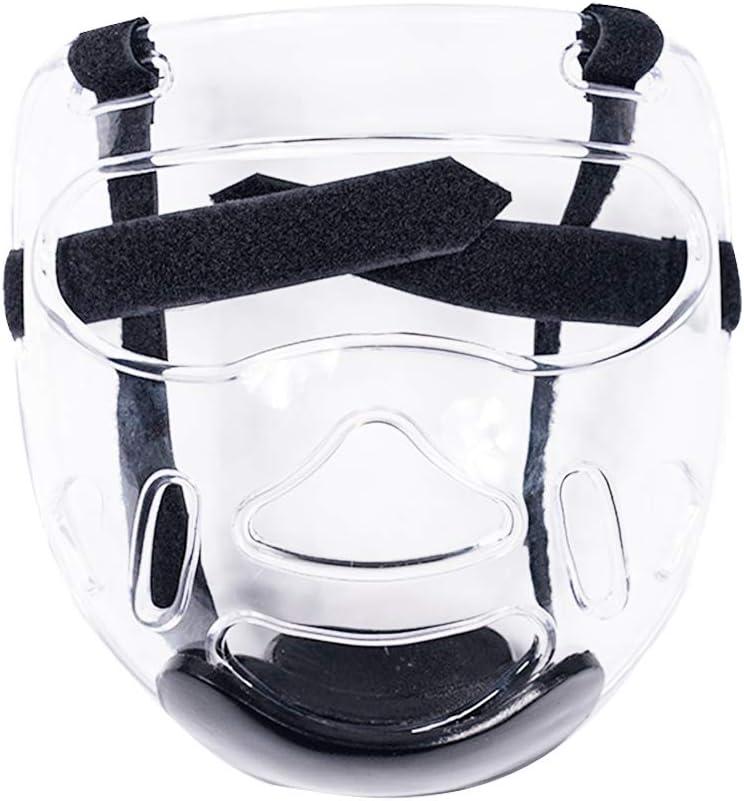 /éQuipement De Protection des Yeux Transparent /éQuipement De Protection R/éGlable TXYFYP Taekwondo Masque pour Le Masque,Casque De Sport D/éTachable Masque De Karat/é