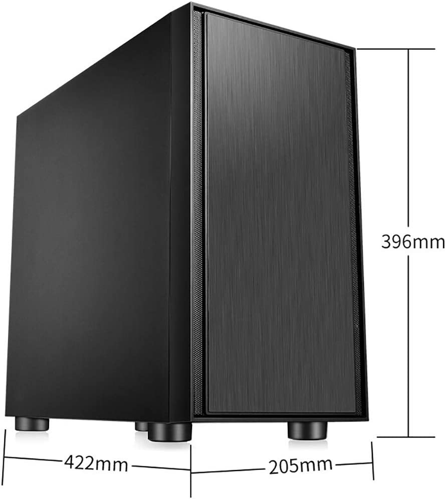 4 Fans and 2 Water Coolers ATX//390mm Graphics Card // 1xUSB3.0//2xUSB2.0 XZ15 Computer case Mini Tower Water-Cooled Computer case Color : Black Black Alloy Series