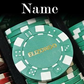 500 Holiday Custom Poker Chip Set Initials or Any Custom Text Full Name