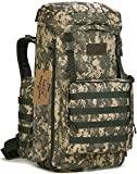 ArcEnCiel 70-85L Large Capacity Tactical Travel Backpack MOLLE Rucksack Outdoor Travel Bag for Travelling Trekking Camping Hiking Hunting -Rain Cover Included