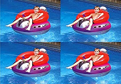 Swimline 9078 Inflatable UFO Lounge Chair Swimming Pool Float with Squirt Gun