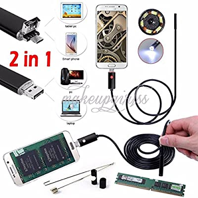 5m 6LED Android Endoscope Waterproof Inspection Camera Micro USB Video Camera