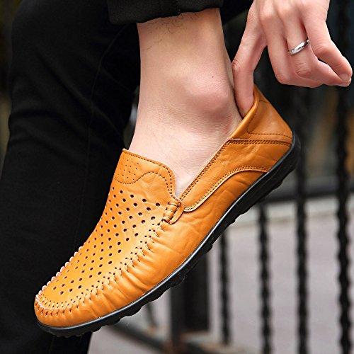 RESPEEDIME Chaussures à Lacets Homme Kaki 1DZFUrtvPM