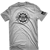 Jeep Shirt daily driver weekend warrior Made in the USA t-shirt wrangler 1941 (Large)