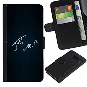 All Phone Most Case / Oferta Especial Cáscara Funda de cuero Monedero Cubierta de proteccion Caso / Wallet Case for Sony Xperia Z3 Compact // Funny Just Like Love