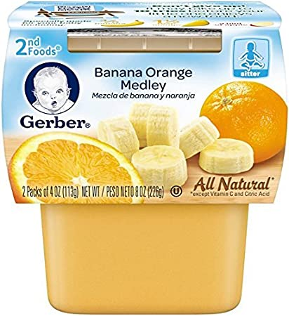 Gerber 2nd Foods Fruits - Banana Orange Medley - 4 oz - 2 ct - 8