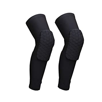 ccc7688f91 Luwint Men Women Honeycomb Knee Pads - Breathable Leg Knee Sleeve  Protective Pad Support Guard for