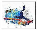 Thomas and Friends Watercolor Train Prints - Set of three 8x10 Wall Art Decor Photos - Thomas the Tank - Percy the Small Engine