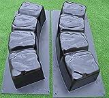 Cheap Betonex 2 MOLDS 47.2 inch ROUND EDGE STONE CONCRETE MOLD Edging Border ABS Plastic #BR04