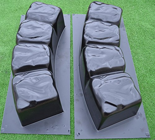 Betonex 2 MOLDS 47.2 inch ROUND EDGE STONE CONCRETE MOLD Edging Border ABS Plastic ()