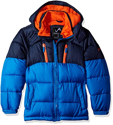 Vertical 9 Big Boys' Bubble Jacket (More Styles Available), V212-Navy/Blue, 10/12