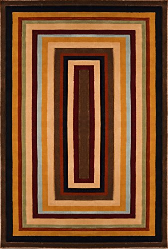 Home Dynamix  Evolution Collection  2 Hd4817 552  Brown Multi  52 X76   Area Rug